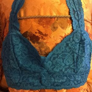 Women's M Free People Gallon Lace Racerback NWT